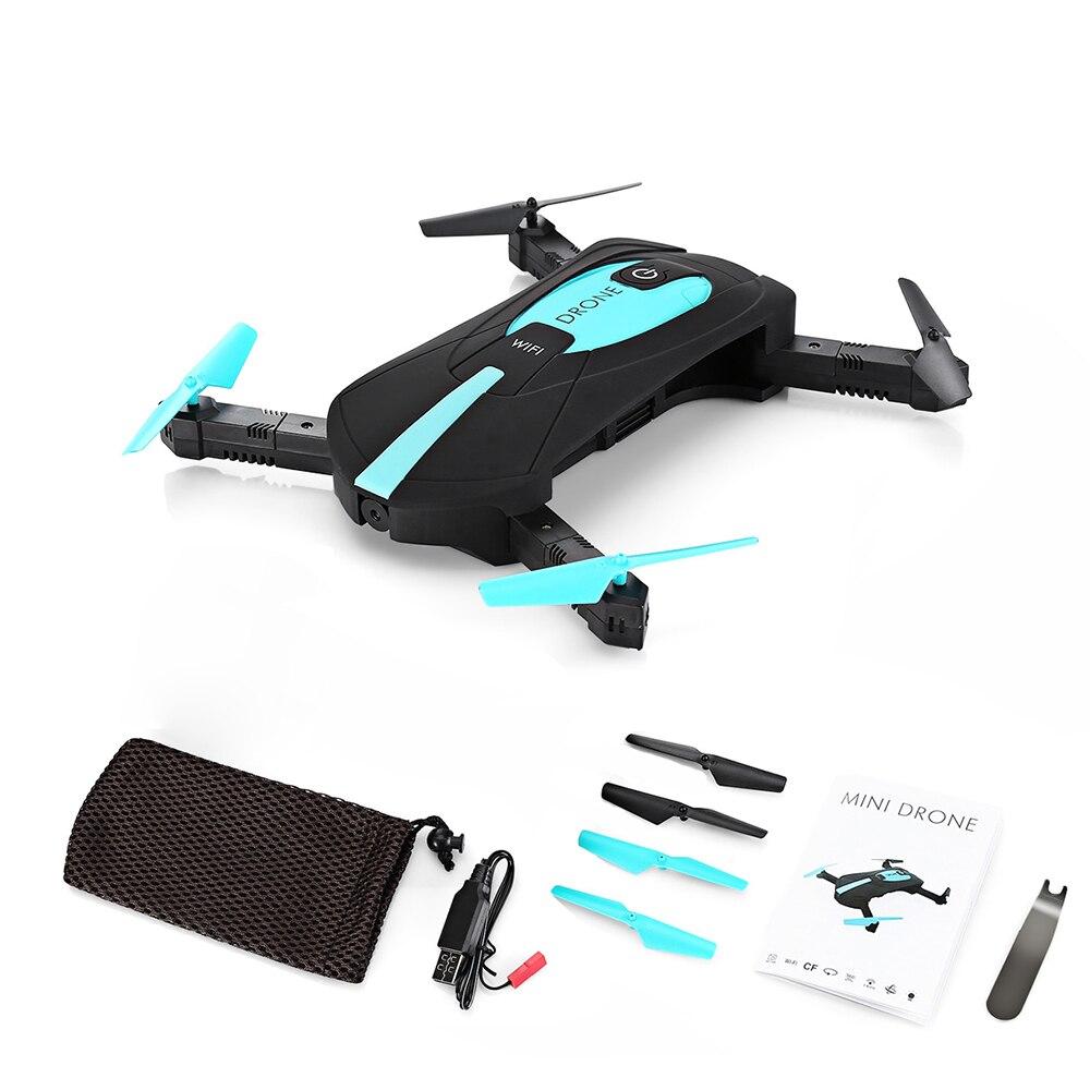JY018 ELFIE Drone WiFi FPV Quadcopter Mini Pliable Selfie Drone RC Drones avec HD Caméra HD Professionnel VS JJRC H37 hélicoptère