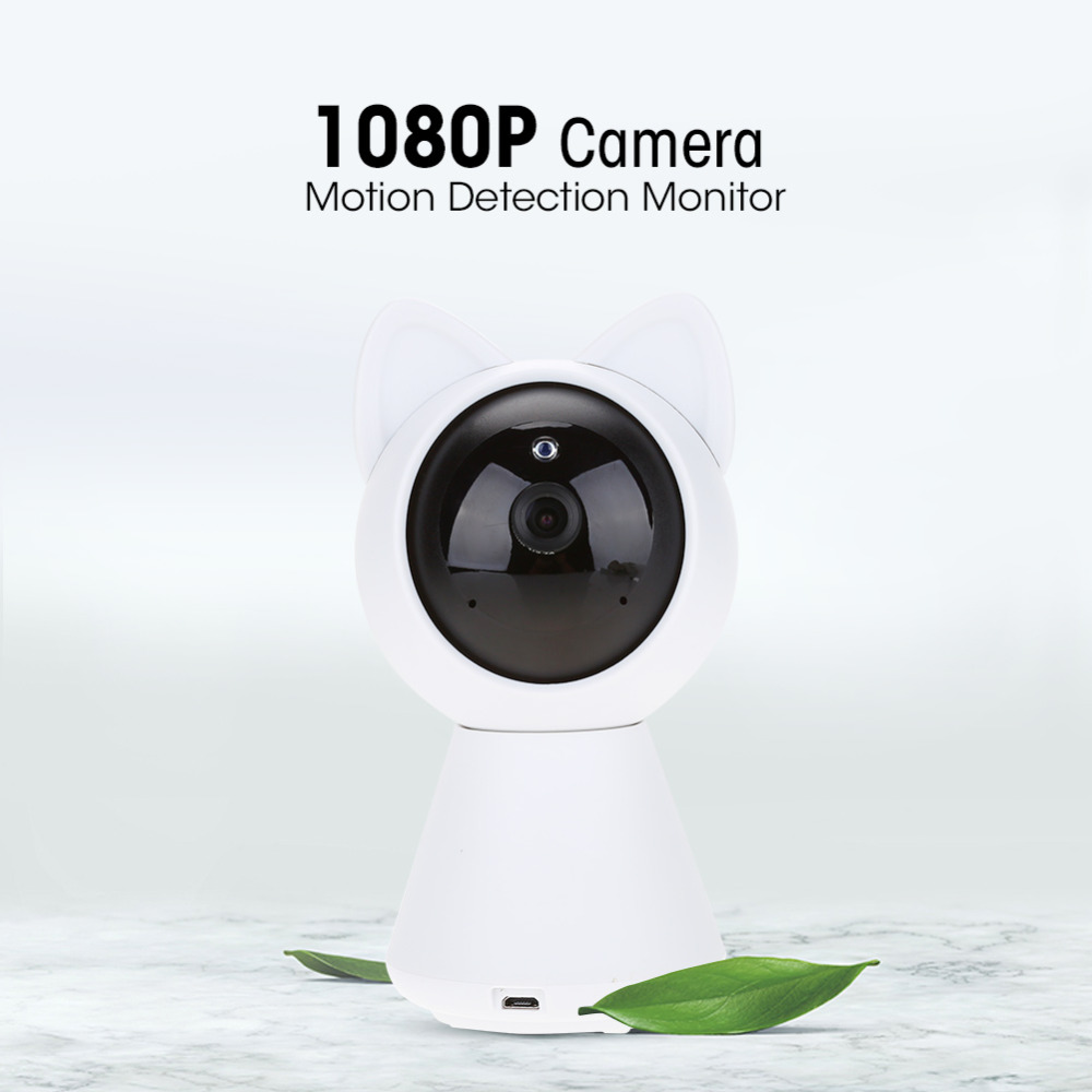 Robert Cat HD 1080P WiFi IP Camera Smart WiFi Camera P2P Night vision Motion Detection Two Way Audio Phone Control 128G US 2018 howell wireless security hd 960p wifi ip camera p2p pan tilt motion detection video baby monitor 2 way audio and ir night vision