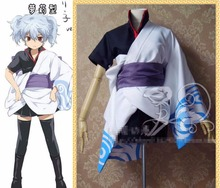 New Anime Gintama Cosplay Costume Sakata Gintoki Girls Lolita Kimono Uniform Outfit Halloween Costumes for Women S-3XL
