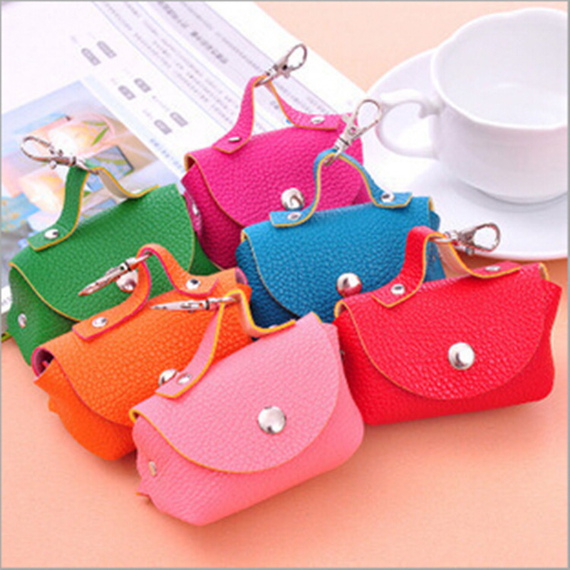 6 Colors Korean Candy Colored Girls Coin Bags Women Key font b Wallets b font Cute