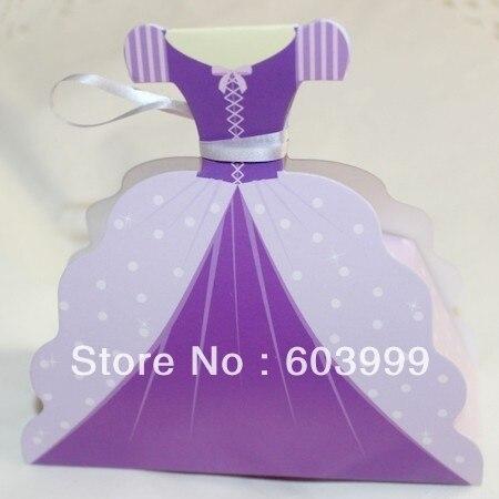 100 Princess Rapunzel Dress Shaped Favor Boxes Gown Dress Wedding