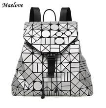 Nuevo 2017 mujeres mochila Geométrica mochila famoso logotipo baobao BAOBAO bolso Superficie Mate packback escolar del Estudiante 12 Colores
