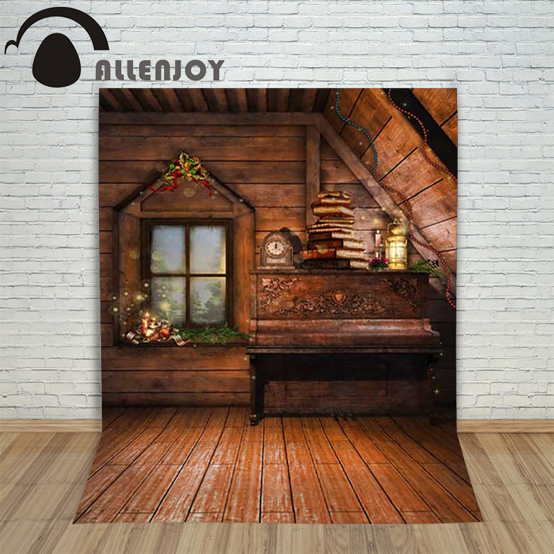 Allenjoy background photography studio Christmas Wooden window book backdrop photocall children's photographic new year