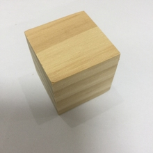 16Pcs wood toy wooden cubes toys square unfinished blocks