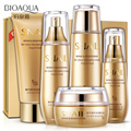 Bioaqua Gold Snail Face Skin Care Set Moisturizing Whitening & Facial Cream Toner Essence milk Cleanser Korea Facial Set