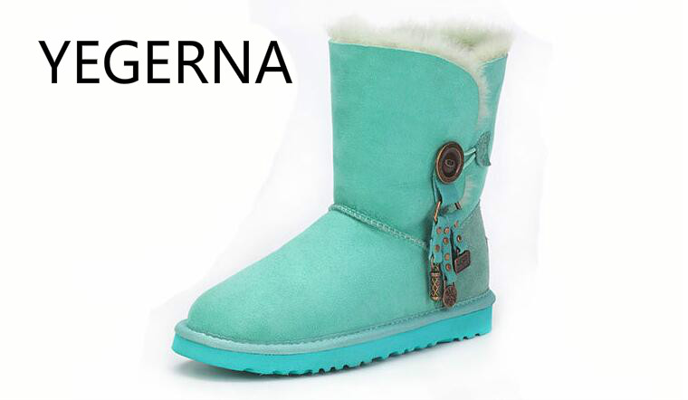 Genuine Sheepskin Leather Snow Boots for Women Top Quality  \ Winter Boots 100% Natural Fur Wool Women Boots top quality fashion women ankle snow boots genuine sheepskin leather boots 100% natural fur wool warm winter boots women s boots
