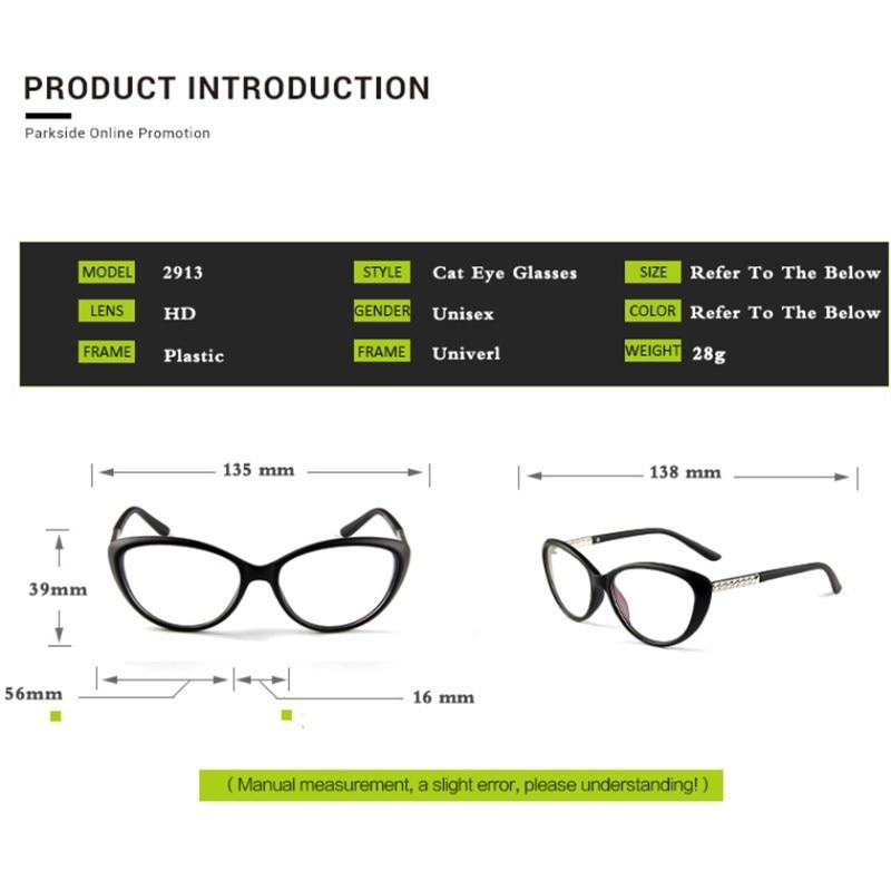 KOTTDO Retro Cat Očala okvir Okenska optična očala Receptna očala - Oblačilni dodatki - Fotografija 5