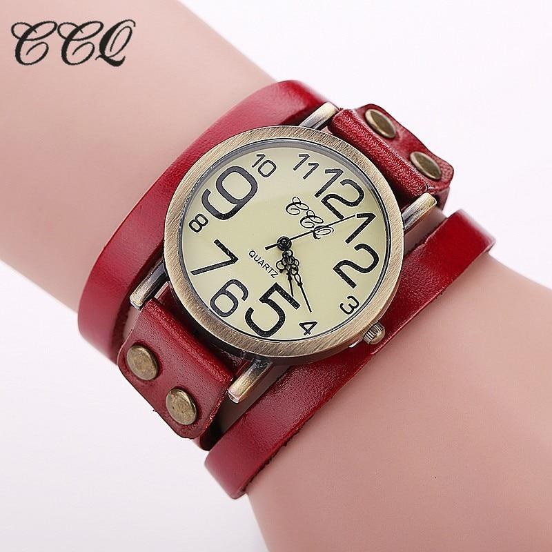 montre bracelet cuir femme vintage