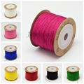 0.8mm 100m/roll Nylon Jewelry Making DIY Cord Threads Silver
