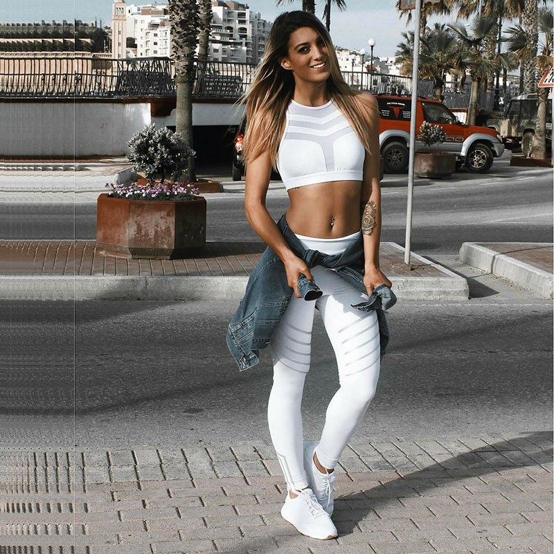 Hibubble Night Glowing Sports Trouser Fitness Leggings Women Sport Quick Dry Running Pants Sexy Tights Leggings Fitness