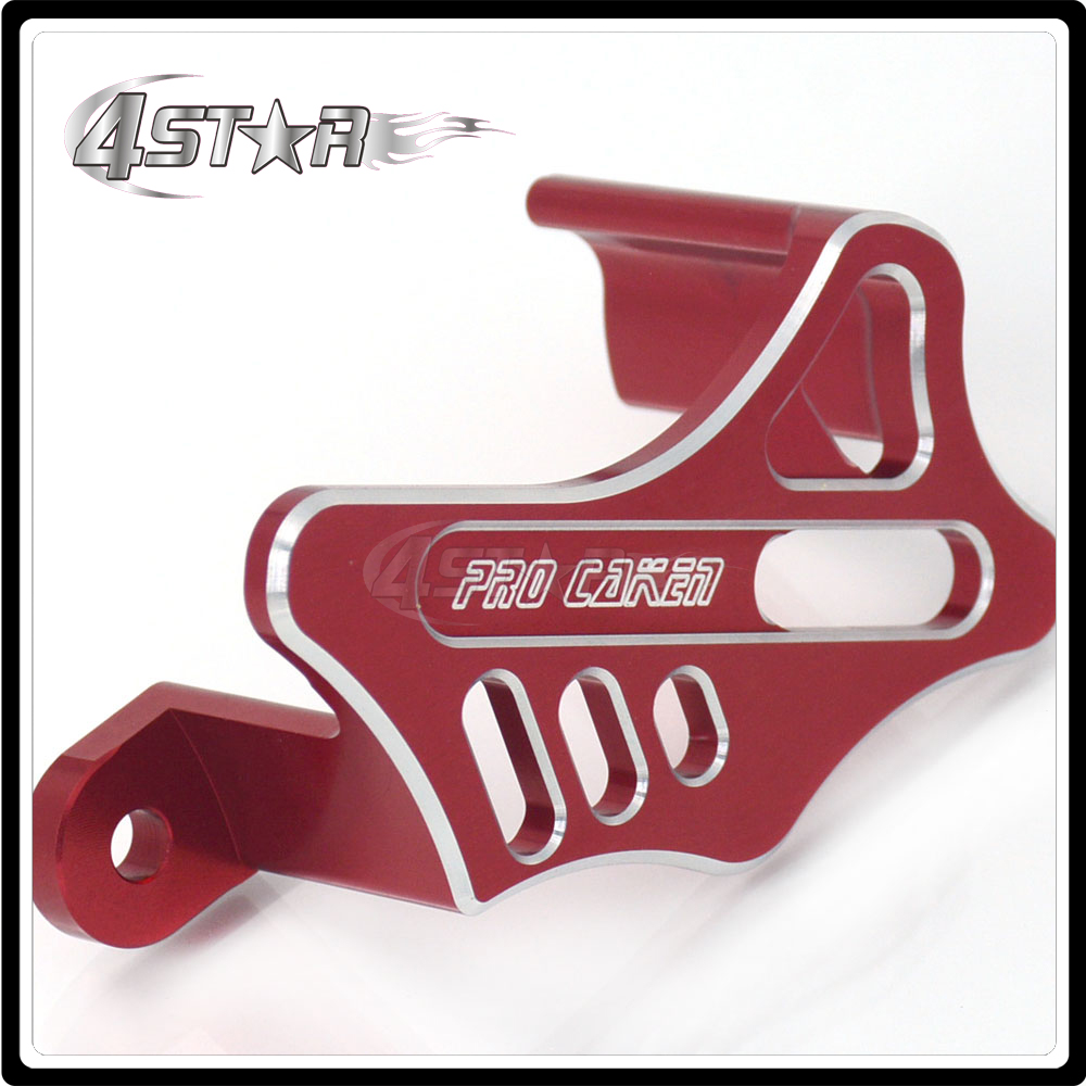 Motorcycle Rear Brake Caliper Guard for HONDA CR125 CR 125 CR250 CR 250 2002-2008 CRF250R CRF 250R CRF250X CRF 250X 2004-2017 for honda crf 250r 450r 2004 2006 crf 250x 450x 2004 2015 red motorcycle dirt bike off road cnc pivot brake clutch lever