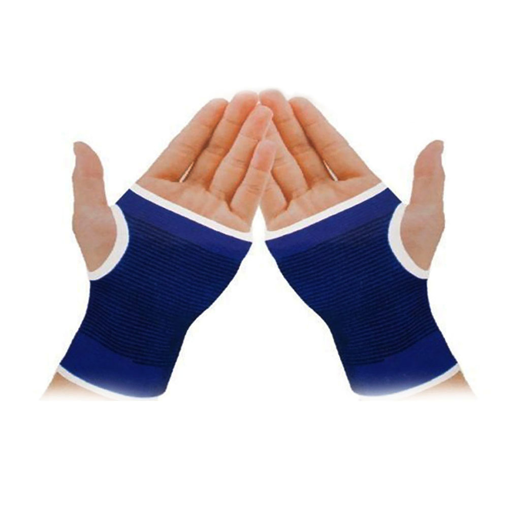1Pair Unisex Blue Palm Wrist Hand Support Gloves Outdoor Sport Elastic Brace Sleeve Sports Bandage Gloves Sports Safety gloves asics 134927 0779 sports accessories unisex