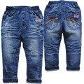 3966 azul marinho calças do bebê meninos calças jeans primavera outono baby & kids jeans moda de nova roupa das crianças