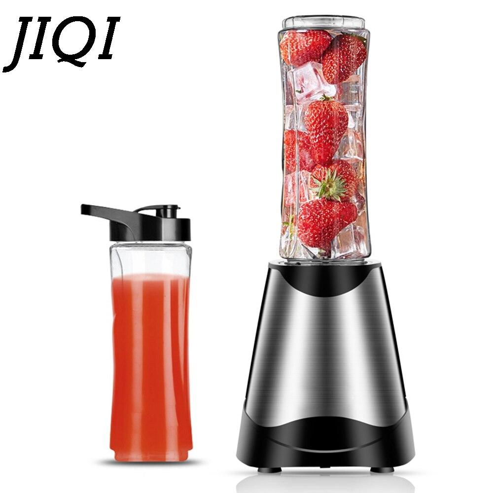 JIQI Electric Juicer Multifunction Mini Portable Food Mixer Automatic Fruits Vegetable Citrus Smoothies Blender Soymilk Machine