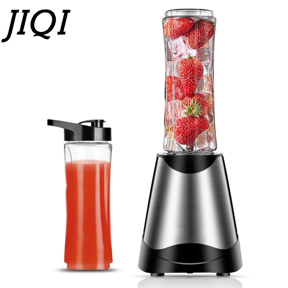 JIQI Electric Juicer Multifunction Mini Portable Food Mixer Automatic Fruits Vegetable Citrus Smoothies Blender Soymilk Machine