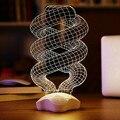 Novo DNA de Design Luz Da Noite 3D Ilusão de Ótica LED Home Decor Novidade Candeeiro de Mesa de Iluminação para o Feriado L100