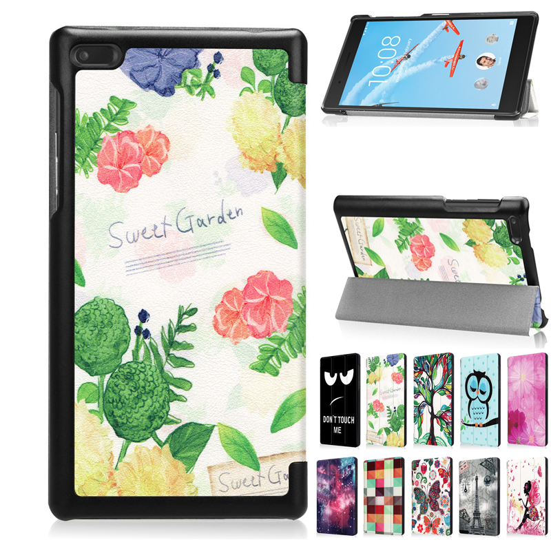 Tab7 <font><b>Tab</b></font> <font><b>7</b></font> TB-7504 PU Leather <font><b>Case</b></font> Cover <font><b>7</b></font>'' Print Protective Stand Skin <font><b>for</b></font> <font><b>Lenovo</b></font> Tab4 <font><b>7</b></font> TB-7504F TB-7504N <font><b>7504X</b></font> <font><b>Tablet</b></font> Fundas image
