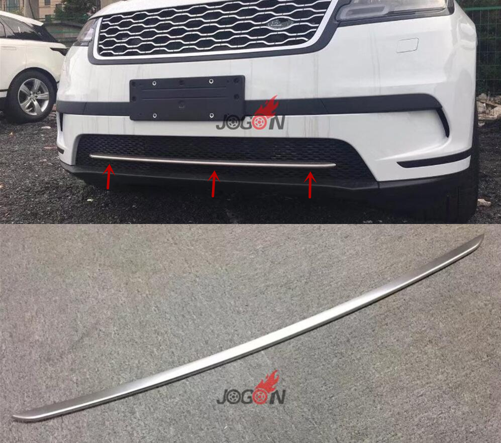 1pcs Front Lower Grille Strip Cover Trim For Land Rover LR Range Rover Velar 2017 2018 руководящий насос range rover land rover 4 0 4 6 1999 2002 p38 oem qvb000050