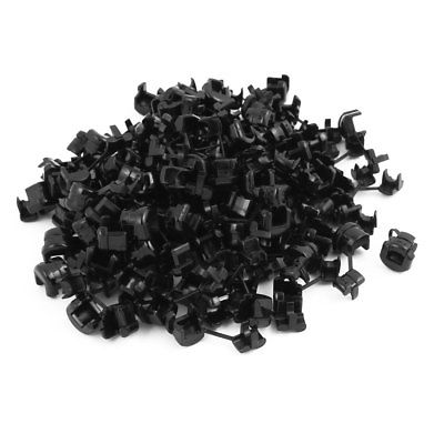 100Pcs 5P-4 Round Cable Wire Strain Relief Bush Grommet 11mm Diameter Black tfbc black 60mm round grommet cable hole cover for computer desk 5 pcs