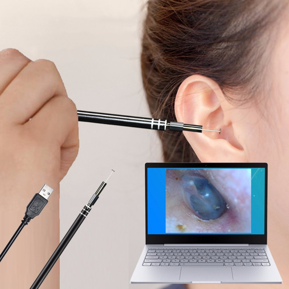 2018 USB Ear Cleaning Tool HD Visual Ear Spoon Multifunctional Earpick With Mini Camera Pen Ear Care In-ear Cleaning Endoscope(China)