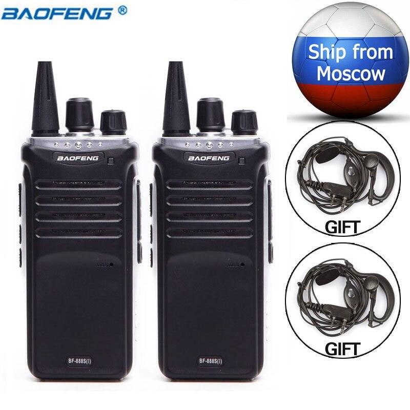 2 pcs Baofeng BF-888S JE UHF 400-470 mhz Mini Talkie Walkie Longue Distance Gamme Communication cb Deux- way Radio Mise À Niveau de BF888S