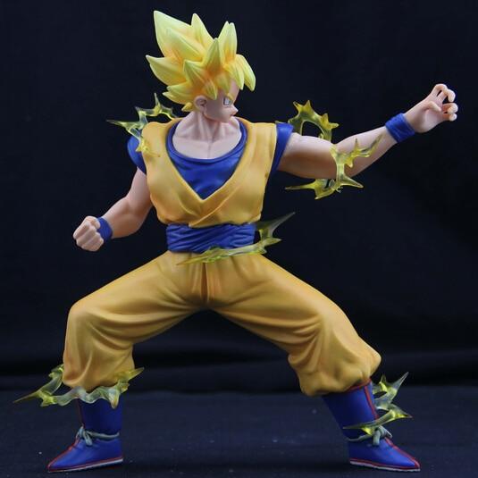 2017 nueva 18 cm anime dragon ball Kakarotto Goku batalla daños super saiyan pvc