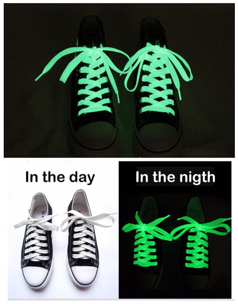 Free Shipping Factory Direct Supply Luminous Shoelaces Fluorescent Shoelaces Shoelaces Luminous Shoelaces Sport Length: 1 M  B1