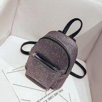 Sequins PU Leather Backpack Women S Rivet Female School Backpack Bag Fashion Backpacks For Teenage Girls