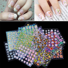 Mixed Design Water Nail Decals(50PCs/set)Nail Art Flower Series Watermarker Transfer Sticker Manicure Decals VQV