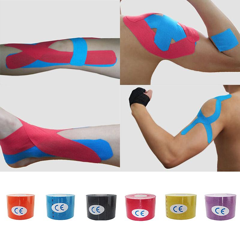 2,5 cm x 5 mt Muskelband Sportband Kinesiologie Tape Cotton Elastic Muscle...