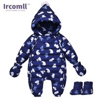 Cold Winter Rompers Baby Clothes Kids Duck Down Cotton Overalls Children Boys Girls Jumpsuit Snowsuit Hoodies Clothing