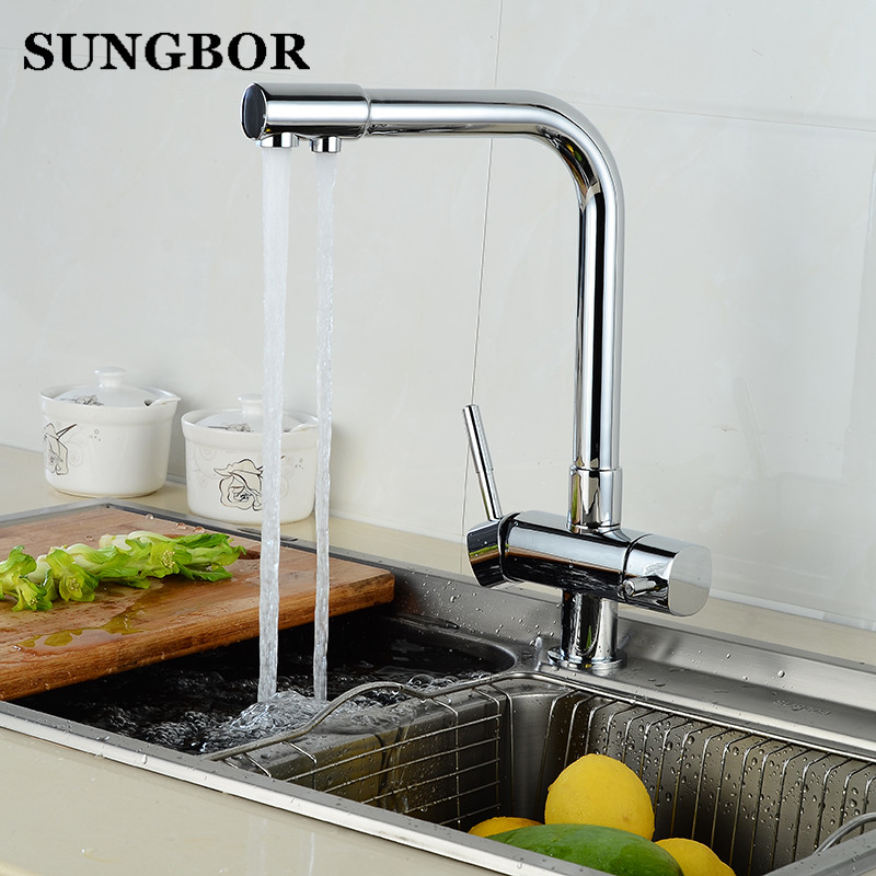 100% Brass Marble Painting Swivel Drinking Water Faucet 3 Way Water Filter Purifier Kitchen Faucets For Sinks Taps CF-9129L sognare 100% brass marble painting swivel drinking water faucet 3 way water filter purifier kitchen faucets for sinks taps d2111