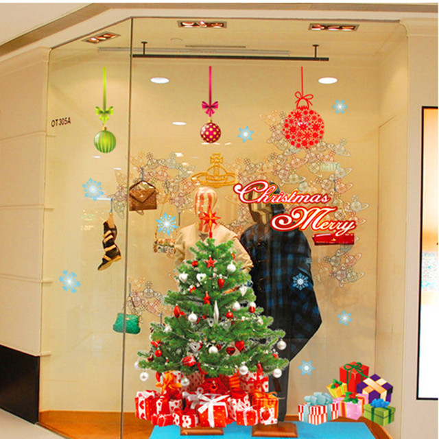 Merry Christmas Decoration Wall Stickers Christmas Tree New Year ...