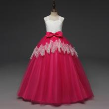 купить Girls Evening Party Dress 2019 Summer Kids Dresses For Girls Children Costume Elegant Princess Dress Flower Girls Wedding Dress дешево