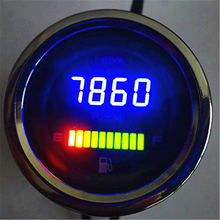 1 pcs LED motorcycle Speedometer Rotate Tachometer Fuel Oil Gauge For Three cylinder Car