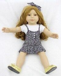 Pursue 18 45 cm hot blond curly hair princess american girl doll for girls cloth body.jpg 250x250