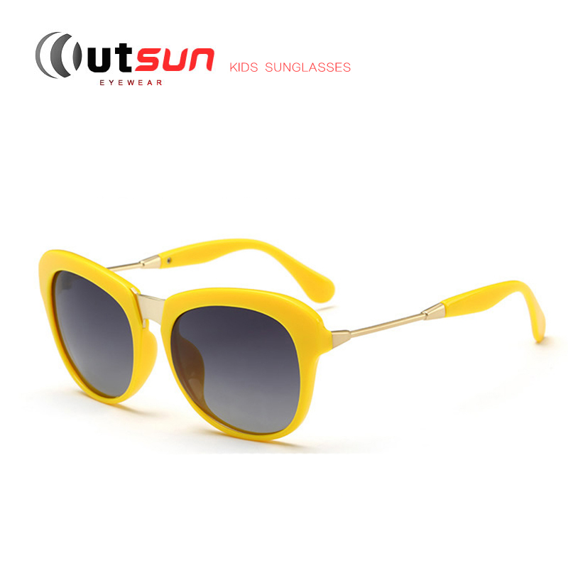 b6871a64fe9 OUTSUN 2016 Fashion Girls Kids Polarized Sunglasses UV400 Anti Glare  Polaroid Shades Vintage Glasses Eyewear For Cool Baby