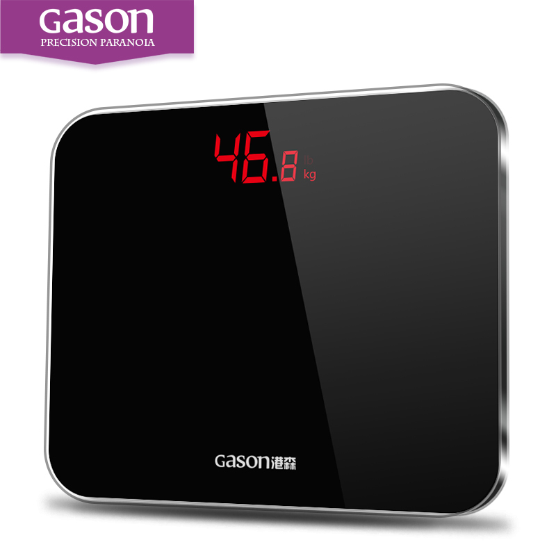 GASON A3 Bathroom Scales Accurate Smart Electronic Digital Weight Home Floor Health Balance Body Glass LED Display 180kg