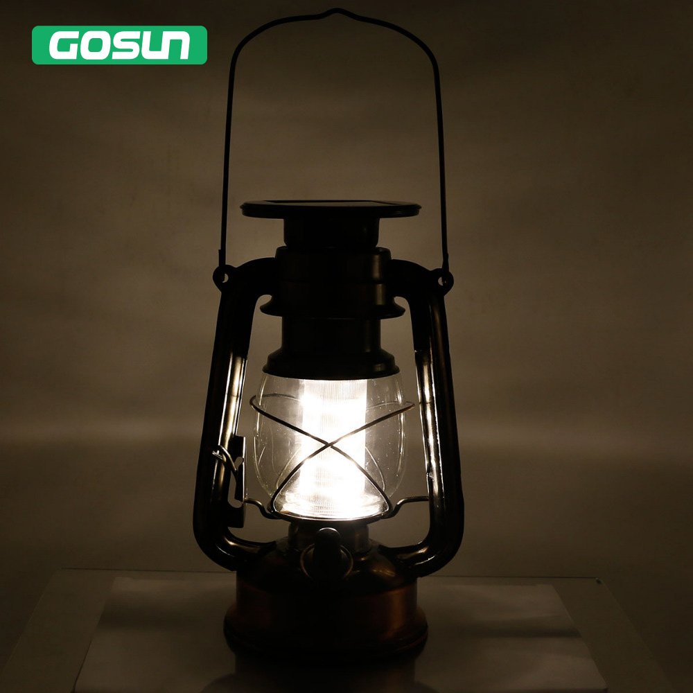 Solar Powered Portable Dimmable Led Baron Lantern