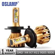 Oslamp H4 H7 H11 9005 9006 H13 H1 SMD кри чипсы 70 Вт автомобиля светодиодные лампы фар 7000LM 6500 К 12 В 24 В светодиодные фары авто фары