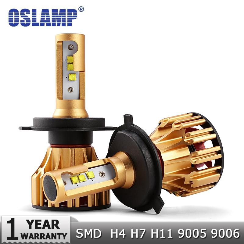 Oslamp H4 H7 H11 9005 9006 H13 H1 SMD Virutas DEL CREE 70 W 7000LM LED Bombillas de Los Faros del coche 6500 K 12 v 24 v Led Auto Faro Faros
