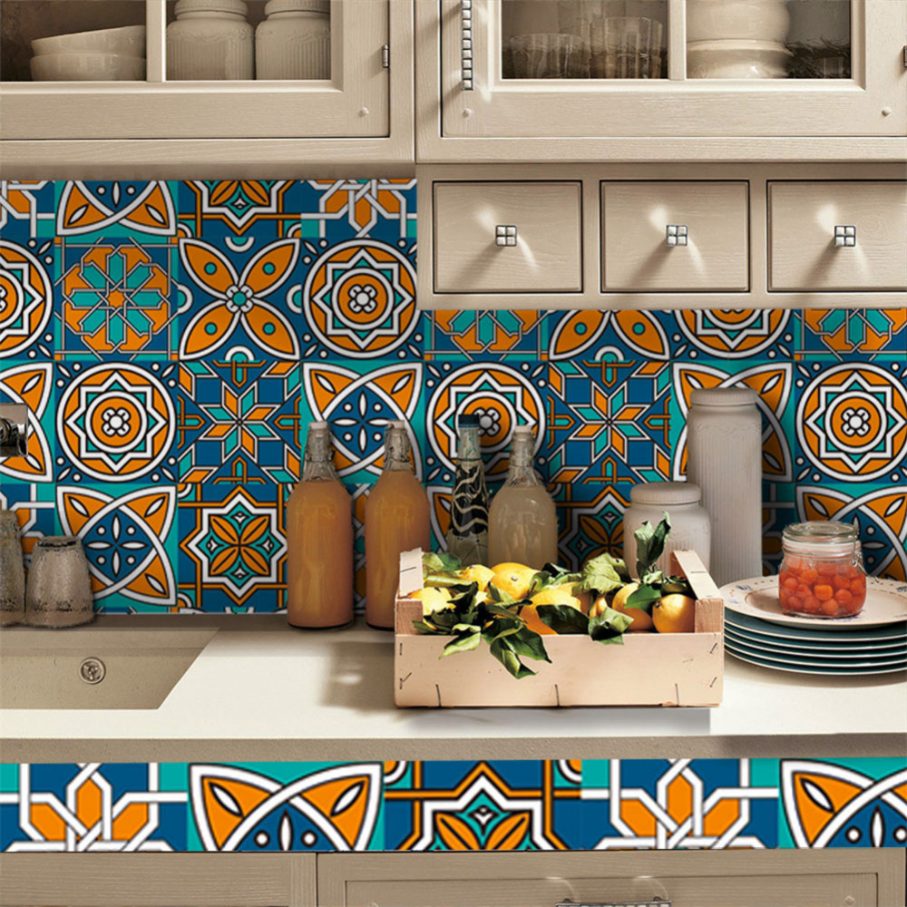 0.2x5m Kitchen Bathroom Wall Sticker Oilproof Waterproof Cabinets <font><b>Tile</b></font> Stickers PVC Bathroom Home Decor Self Adhesive Decals