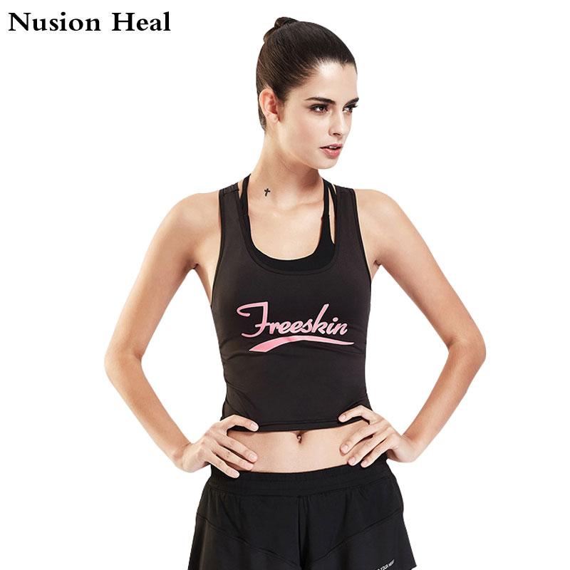 NUSION HEAL Women Cross Design Sports Bra Push Up Shockproof Vest Tops with Padding for Running Gym Fitness Jogging Yoga Shirt
