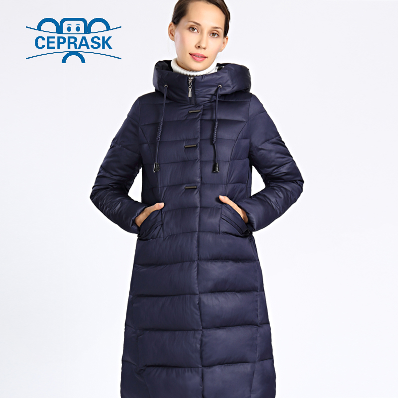 2017 New Winter Jacket Women Plus Size Long Thick Womens Winter Coat Hooded High Quality Warm Down Jackets Parka Femme Ceprask thick down cotton hooded jacket women high quality parka casual manteau femme hiver fashion warm womens winter jackets tt3412