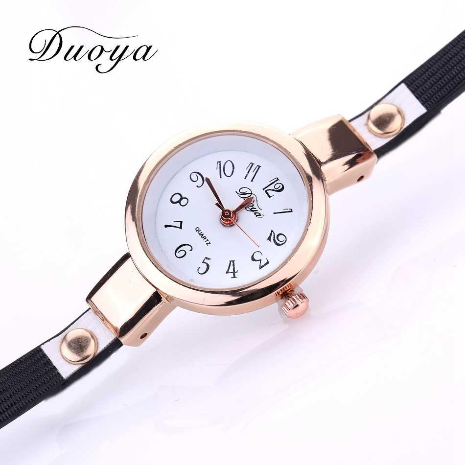 מותג נשים שעון יוקרה זהב ריינסטון צמיד שעוני יד Reloj Mujer גבירותיי נשי אופנה מתנת שעון עסקי Dropship-21