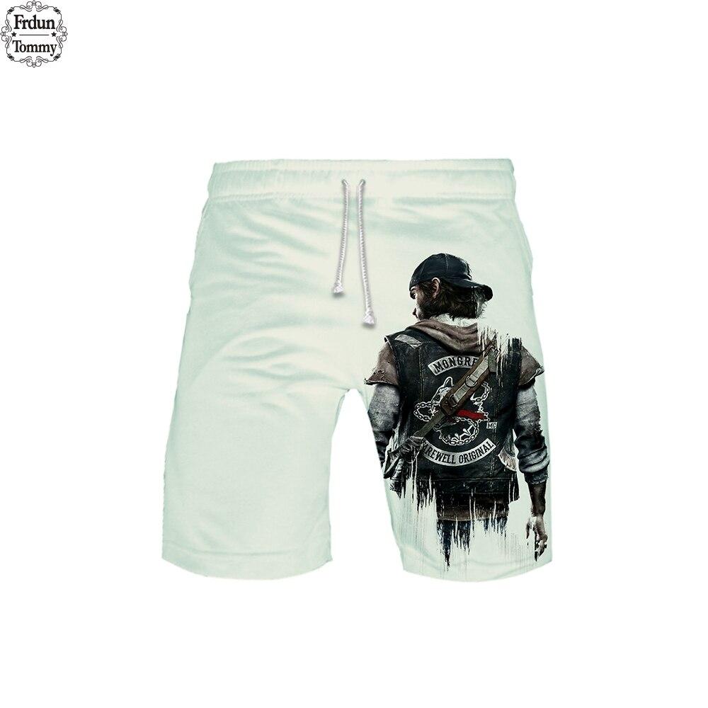 Frdun Tommy Days Gone 3D Beach Shorts 2019 Fashion Summer Casual Shorts Fashion Hip Hop Short 3D Pants Beach Wear XXS-6XL