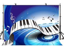 7x5ft Piano Button Backdrop Piano Keys Beautiful Blue Photography Background and Studio Photography Backdrop Props