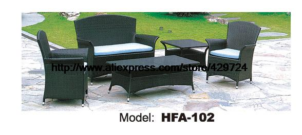 Classic 113 Rattan Sofa Include Table Cushions Garden Outdoor Patio Sofa Ratten Furniture Low Price Furniture Set HFA102 circular arc sofa half round furniture healthy pe rattan garden furniture sofa set luxury garden outdoor furniture sofas hfa086