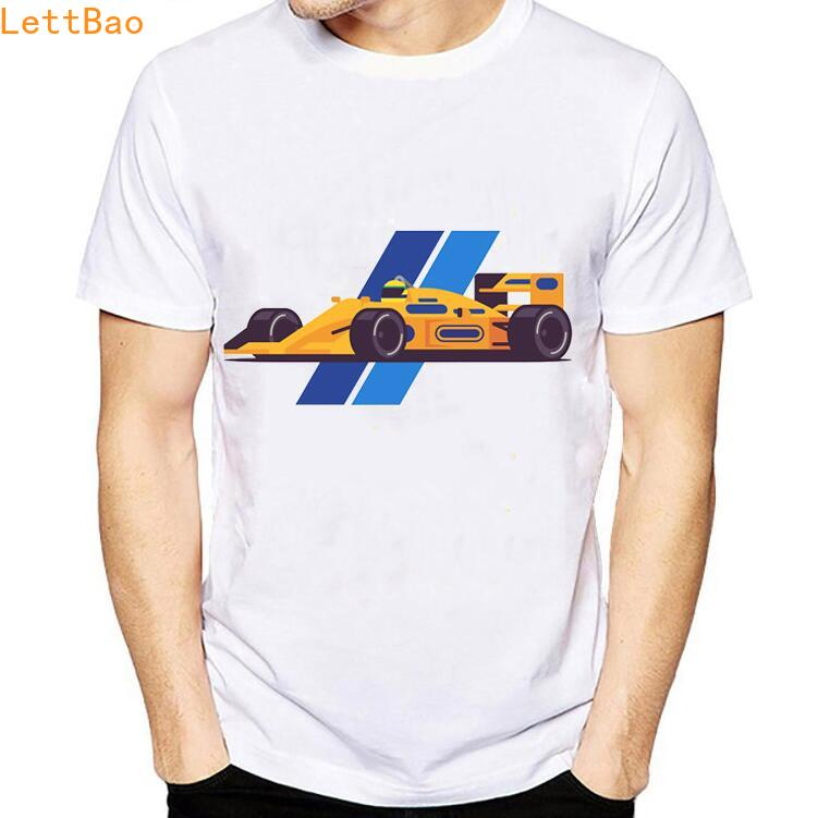 All <font><b>F1</b></font> Ayrton Senna Sennacars <font><b>T</b></font> <font><b>Shirt</b></font> Men Summer 2019 vintage <font><b>T</b></font>-<font><b>shirt</b></font> Classic Souvenir <font><b>Shirt</b></font> Digital Print Casual Unisex Tee image