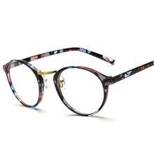 N66 Marca Vintage Diseño Llano Hombres Mujeres Gafas Redondas Gafas Marco Óptico Retro Gafas De Grau Femininos